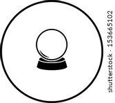 crystal fortune ball symbol | Shutterstock .eps vector #153665102