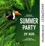 vector summer beach party flyer ... | Shutterstock .eps vector #1536652445