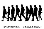 vector silhouettes of  men  ... | Shutterstock .eps vector #1536655502