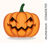 scary pumpkin halloween vector  ... | Shutterstock .eps vector #1536656705
