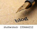 writing blog | Shutterstock . vector #153666212