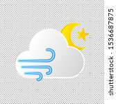 isolated weather icon. wind...
