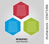 abstract information on hexagon ... | Shutterstock .eps vector #153671486