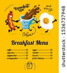 breakfast menu placemat food... | Shutterstock .eps vector #1536737948