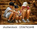 Kids Navigating On Map During...