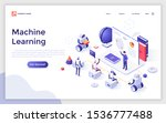 landing page template with... | Shutterstock .eps vector #1536777488