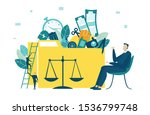 businessman sitting in front of ... | Shutterstock .eps vector #1536799748