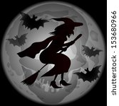 illustration of halloween witch ... | Shutterstock . vector #153680966