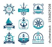 marine labels. nautical logo...   Shutterstock .eps vector #1536829208