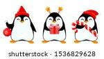 Cute Little Penguin  Set Of...