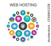 web hosting infographic circle...