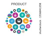 product infographic circle...