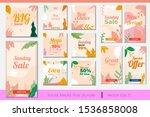 set of editable instagram... | Shutterstock .eps vector #1536858008