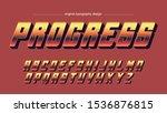 metallic red artistic font...   Shutterstock .eps vector #1536876815