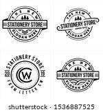 design logo with line art... | Shutterstock .eps vector #1536887525