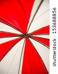 red and white canvas tents. | Shutterstock . vector #153688856