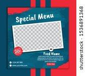 delicious food instagram banner ... | Shutterstock .eps vector #1536891368