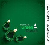 stylish green diwali concept... | Shutterstock .eps vector #1536892958