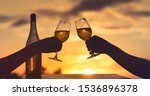 people celebrating toasting... | Shutterstock . vector #1536896378