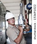 the mechanic prepares for... | Shutterstock . vector #153691022