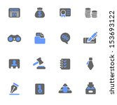 business   finance web icons | Shutterstock .eps vector #153693122