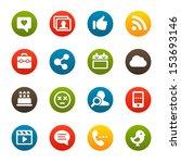 social network icons | Shutterstock .eps vector #153693146