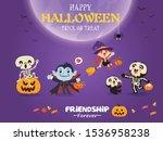 vintage halloween poster design ... | Shutterstock .eps vector #1536958238
