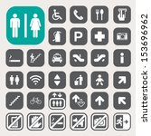 public icons set.illustration... | Shutterstock .eps vector #153696962