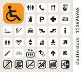 public icons set.illustration... | Shutterstock .eps vector #153696968