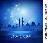 mawlid al nabi calligraphic...   Shutterstock .eps vector #1537005425
