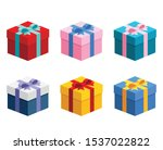 6 various presents   gift boxes ...