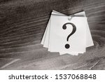 Paper Stickers With A Question...