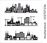 industry icons over white... | Shutterstock .eps vector #153707156