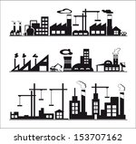 industry icons over white... | Shutterstock .eps vector #153707162