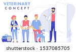 veterinary concept with animal... | Shutterstock .eps vector #1537085705