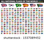 all national flags of the world ... | Shutterstock .eps vector #1537089452