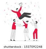 business success congratulation.... | Shutterstock .eps vector #1537092248