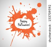 painted style halloween greeting | Shutterstock .eps vector #153709592