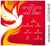 The Seven Gifts of the holy spirit vector illustration