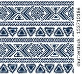 Tribal vintage ethnic seamless  | Shutterstock vector #153710186