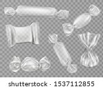 transparent candy wrappers set... | Shutterstock .eps vector #1537112855