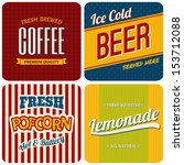 a set of four retro designs  ... | Shutterstock .eps vector #153712088