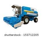 Blue Agricultural Harvester