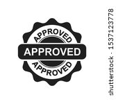 approved sign icon in trendy... | Shutterstock .eps vector #1537123778