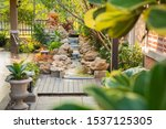 Decorative Garden With Stream...