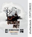 illustration of halloween... | Shutterstock .eps vector #1537138322