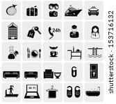 hotel icons set | Shutterstock .eps vector #153716132