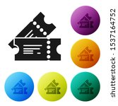 black cinema ticket icon... | Shutterstock .eps vector #1537164752