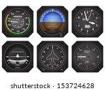 set of six aircraft avionics...   Shutterstock .eps vector #153724628