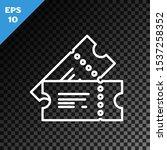 white line cinema ticket icon... | Shutterstock .eps vector #1537258352